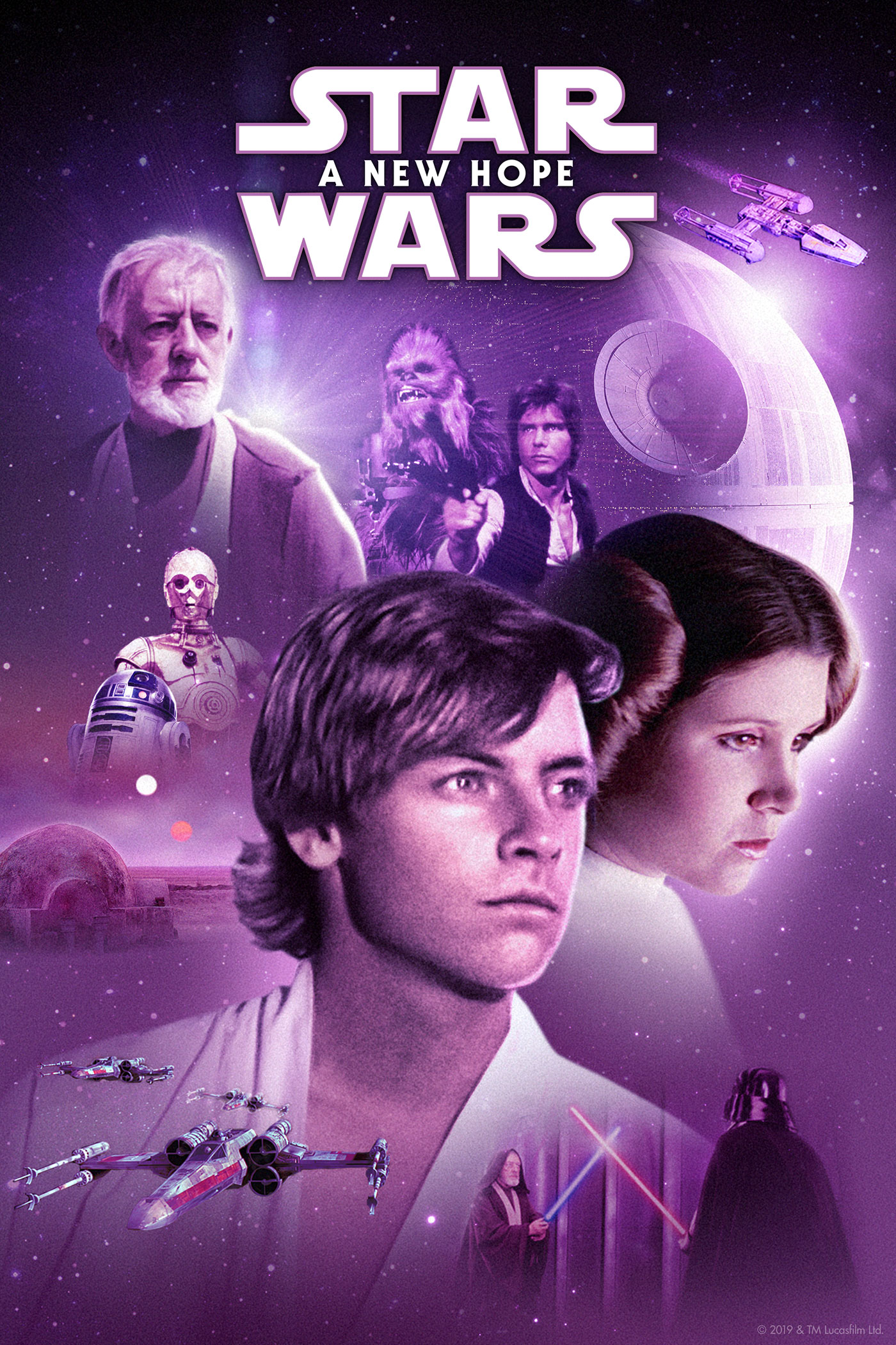 "cover design for ""Star Wars: A New Hope"""
